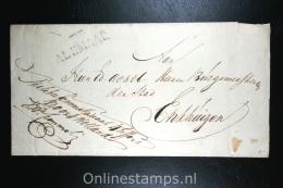 Nederland: Cover Gekapt Departementstempel Alkmaar, Naar Enkhuizen, 1818 - Nederland