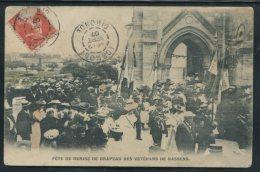 CARTE POSTALE ANCIENNE AYANT CIRCULE 1907 BASSENS/GIRONDE –FETES DES VETERANS DE BASSENS  - (ANIMEE)  TB - Sonstige Gemeinden