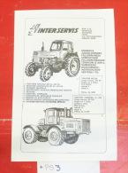 INTERSERVIS Novi Sad (Serbia) General Agent Of TRAKTOREXPRO Moscow SSSR Machinery, Machines Agricoles / Tractor Tracteur - Traktoren