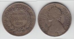 **** COLONIES FRANCAISES - MARTINIQUE - 1 FRANC 1897 **** EN ACHAT IMMEDIAT !!! - Antilles