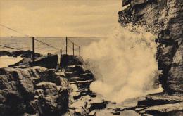 Maine Bar Harbor Thunder Hole Along Ocean Drive Acadia National