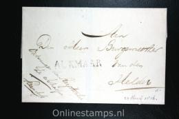 Nederland:cover Gekapt Departementsstempel Alkmaar Naar Den Helder 1816 - Nederland