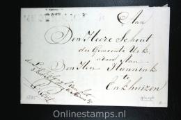 Nederland:brief  Gekapt Departement Stempel Medemblik Naar Enkhuizen, 1825 - ...-1852 Voorlopers