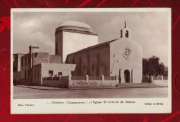 "Carte Postale Glaçée""CASABLANCA""EGLISE SAINT-ANTOINE DE PADOUE""Maroc""Maârif"" - Casablanca"