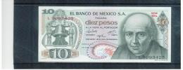 MEXIKO  ,  MEXICO  ,  10 Diez Pesos  ,  15.5.1975  ,  Pick# 724 H     ,     Unc - Mexiko