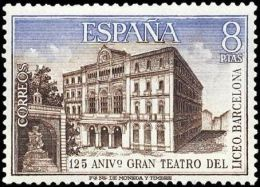 España 1972 Edifil 2114 Sello ** 125 Aniversario Gran Teatro Del Liceo Spain Stamps Timbre Espagne Briefmarke Spanien - 1931-Hoy: 2ª República - ... Juan Carlos I