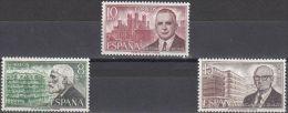 España 1975 Edifil 2241/3 Sellos ** Personajes Españoles Antonio Gaudi, Palacios Y Secundino Zuazo Ctª Spain Stamps - 1931-Hoy: 2ª República - ... Juan Carlos I