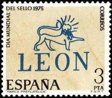 España 1975 Edifil 2261 Sello ** Dia Mundial Del Sello Leon Spain Stamps Timbre Espagne Briefmarke Spanien Francobolli - 1971-80 Unused Stamps