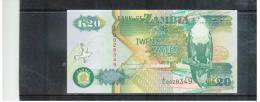 SAMBIA ,  ZAMBIA    ,  20 Kwacha  ,  Sign.10  , 1992  ,   Printer TDLR  ,  . Pick#36 - Sambia