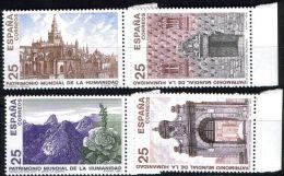 España 1991 Edifil 3146/49 Sellos ** Bienes Culturales Y Naturales Patrimonio De La Humanidad Parque Nacional De Garajon - 1931-Hoy: 2ª República - ... Juan Carlos I