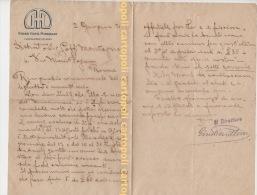 ^ CASTIGLIONCELLO PISA GRAND HOTEL MIRAMARE LETTERA 1921 GENERALE GOFFI CARTA INTESTATA   32 - Documenti Storici