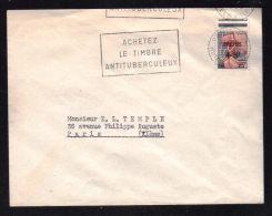 N° 1229  -  25F + 5f  Sinistrés Fréjus /  PARIS 113 - 11.12.1959......usage Court....1er Jour Mise En Vente à PARIS - Poststempel (Briefe)