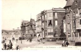 """Mers-les-Bains (Le-Tréport-Somme)-1910-Les Promenades-Les Villas-le Casino-Envoyée De """"La Malouine""""-rue Faidherbe-scan - Mers Les Bains"""