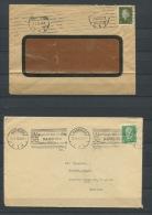 Germany 1928 (2) Covers Hamburg0 Mexico, Duseldorf - Germany
