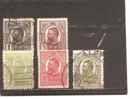 Rumanía Yvert Nº 215-18, 220 (usado) (o) - 1881-1918: Charles I
