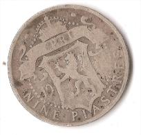 CHYPRE  9 PIASTRES   1901  ARGENT  VICTORIA   RARE ! - Chypre