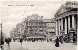 BELGIUM / BELGIQUE Ca. 1905 - POSTAL CARD - PLACE DE LA BOURSE, BRUXELLES - Buildings & Architecture
