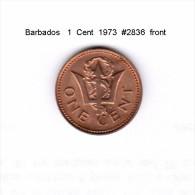 BARBADOS    1  CENT  1973  (KM # 10) - Barbados