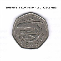 BARBADOS    $1.00  DOLLAR  1989  (KM # 14.2) - Barbades