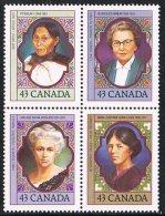 Canada SG1529a 1993 Women 4x43c Se-tenant Block Unmounted Mint - 1952-.... Règne D'Elizabeth II