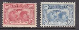 AUSTRALIA: GEORGE V 1931 KINSFORD SMITH FLIGHT, 2d, 3d No Gum, No Postmark - 1913-36 George V : Other Issues