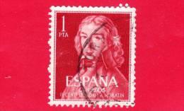 SPAGNA - USATO - 1961 - II Centenario Di Leandro Fernández De Moratín - Scrittore - 1 - 1931-Heute: 2. Rep. - ... Juan Carlos I