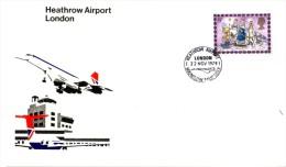 Enveloppe  ENGLAND  CONCORDE   HEATHROW   AIRPORT   LONDON     1979 - Concorde