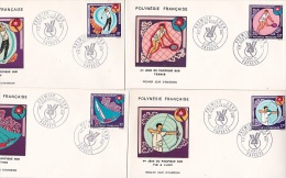 French Polynesia 1971 4th South Pacific Games Set 4 FDCs - FDC