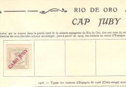 ESPAGNE - Philatélie / 1 Timbre CABO JUBY (Rio De Oro) Neuf Avec Charnière Sur Ancien Album - Cabo Juby