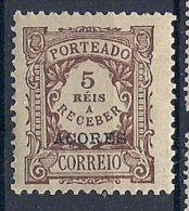 131007288  AZORES C.PORT.  YVERT  TAXE  Nº  1  */MH - Azores