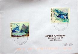Faroe Islands  Klaksvik 21-7-2004 Letter To Denmark MiNr.18-19 ( Lot 1140 ) - Faroe Islands