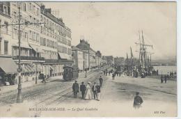 CPA - 62 -  BOULOGNE -sur- MER  - Le Quai Gambetta  -    ( Tramway, Animation ) - Boulogne Sur Mer