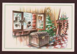 MONACO - Double Carte De Noël Et Jour De L´An . D'après Thierry MORDANT - 3 Scannes. - Weihnachten