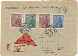 01156 Böhmen Und Mahren Podiebrad/Podebrady 1942 Registered Nachname To Graz (Austria) - Bohême & Moravie