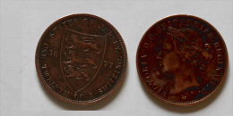 1 Pièce 1/2 Shilling  One TWELFTH A SHILLING 1877 H - Jersey