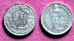 1 Pièce 2 F 1944 B  Argent Silver - Suisse