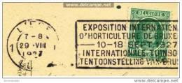 """""""Exposition Internationale D´Horticulture De Bruxelles 10-18/09/1927"""" """"Internat. Tuinbouwtentoonstelling Van Brussel"""" - Flammes"""