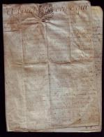 Marque Rare CLERMONTOIS 1770 PARCHEMIN Commune Romagne Fait à Varennes Maitre Bourelier - Manuscrits