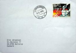 Iceland Stodvarfjôrdur  30-5-1996  Letter To Denmark  MiNr.803 ( Lot 697 ) - 1944-... Republique