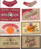 Collector Set Of 16 Vintage Beer Labels HUNGARY UNGARN  (B030) - Bier