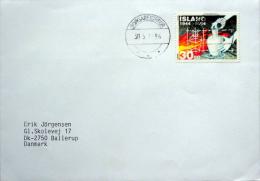 Iceland Borgarfjôrdur  30-5-1996  Letter To Denmark  MiNr.803 ( Lot 721 ) - 1944-... Republique
