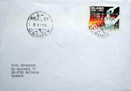 Iceland Grimsey  31-5-1996  Letter To Denmark  MiNr.803 ( Lot 720 ) - 1944-... Republique