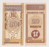 MONGOLIE / MONGOLIA - 20 MONGO 1943 - Mongolia