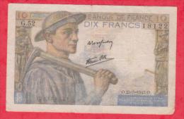France 1 Billet Du 25/03/1943 état - 10 F 1941-1949 ''Mineur''