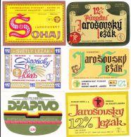 Collector Set Of 10  Vintage Beer Labels CZECH TSCHECHISCH  JAROSOV PIVO BRNO (B032) - Bier