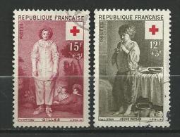 """FR YT 1089 & 1090 """" Au Profit De La Croix-Rouge """" 1956 Oblitéré - Usati"""