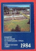 K351 / 1984 - ECOLOGY - TREATMENT PLANT FACTORY - Calendar Calendrier Kalender - Bulgaria Bulgarie Bulgarien Bulgarije - Calendriers