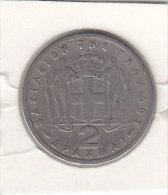 2 DRACHMAI Cupro-nickel  1954 - Grecia