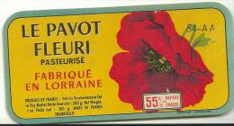 étiquette De Fromage:   Camembert  :  Vézelise  - Lorraine - Petit  Format  ,  Coquelicot Fleur Pavot - Fromage