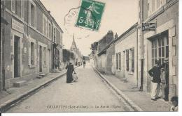 CELLETTES (Loir-et-Cher). -  La Rue De L´Eglise - France